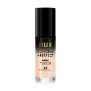 Milani CONCEAL + PERFECT 2-IN-1 FOUNDATION + CONCEALER Podkład kryjący 00 Light Natural