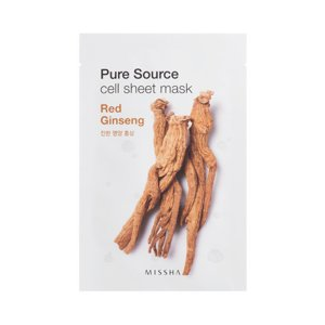 Missha Pure Source Cell Sheet Mask Maseczka w płacie Red Ginseng