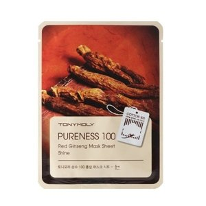 Tony Moly Pureness 100 Sheet Mask Shine Maska w płacie RED GINSENG