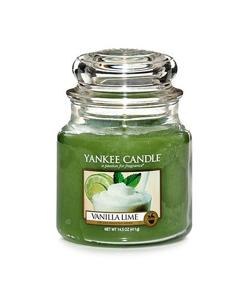 Yankee Candle ŚWIECA W SŁOIKU ŚREDNIA Vanilla Lime