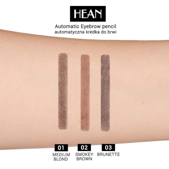 Hean Automatic Eyebrow Pencil Automatyczna kredka do brwi 02 Smokey Brown