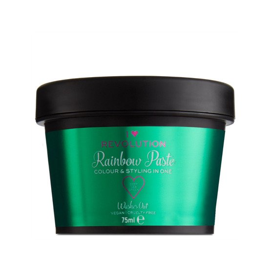 Makeup Revolution Rainbow Paste Koloryzująca pasta do włosów Deep Sea Green 75ml