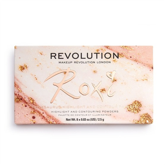 Makeup Revolution x Roxxsaurus Paleta do makijażu twarzy Highlight & Contour Palette