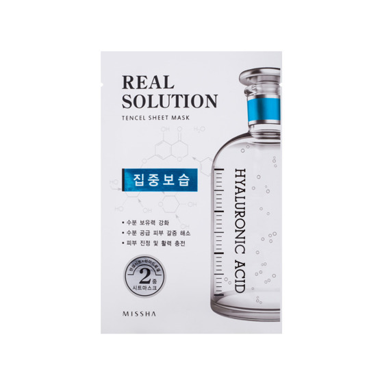 Missha Real Solution Tencel Sheet Mask Hyaluronic Acid Intensive Moisturizing Maseczka do twarzy w płacie
