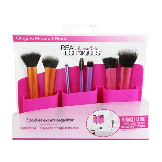 Real Techniques Miracle Cling 3 Pocked Expert Organizer na pędzle