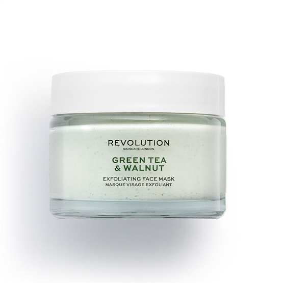 Revolution Skincare Green Tea & Walnut Exfoliating Face Mask 50ml